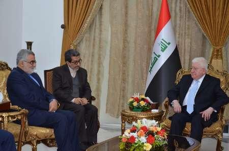 MP, Iraqi President discuss latest regional developments