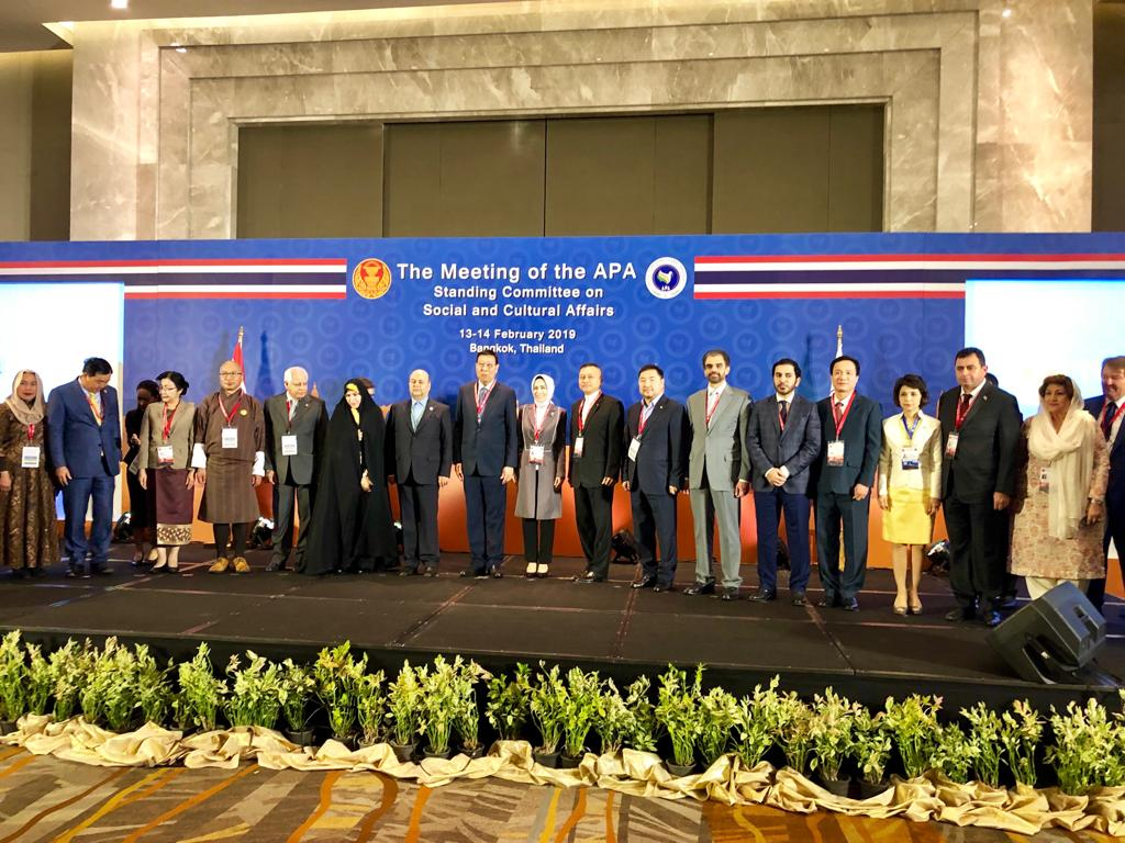 Opening of the meeting of the Standing Committee on Social and Cultural Affairs of the Asian Parliamentary Assembly – 13 February 2019, Thailand